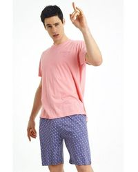 Arthur Pyjama court Apero Rose - Bleu