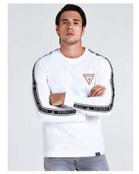Guess T-SHIRT LOGO BANDES CONTRASTANTES - Blanc