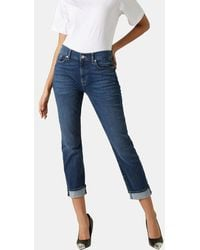 7 For All Mankind - Jean skinny 7/8 Relaxed - Lyst