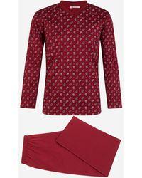 Mariner Pyjama imprimé paisley - Rouge