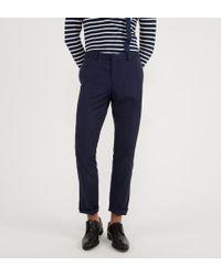 Comptoir GL Pantalon de costume Lafayette slim en laine - Bleu