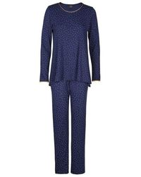 Lingerie LE CHAT Pyjama 100% coton AMBRE 702 - Bleu