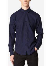 Sandro Chemise droite coton - Bleu