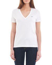 Lacoste - T-shirt droit en coton - Lyst