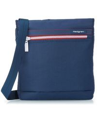 Hedgren Porters travers vertical LEONCE - Bleu