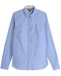 Tommy Hilfiger Chemise Heritage droite coton oxford - Bleu