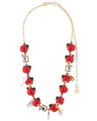 N2 Collier Transformable Multi Pommes Et Pampilles - Rouge