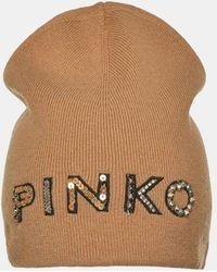 Pinko Bonnet siglé - Neutre