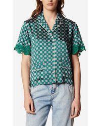 Sandro Chemise pyjama imprimée - Vert