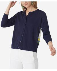 Nice Things Gilet dos avec foulard - Bleu