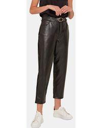Yerse Pantalon droit stretch - Noir