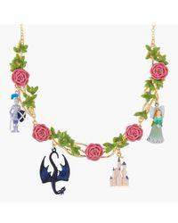 N2 Collier Plastron Belle Endomie Et Lit De Roses - Vert