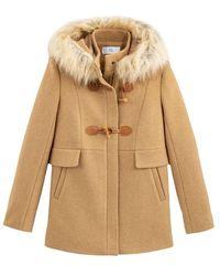 La Redoute Duffle-coat mi-long à capuche - Neutre