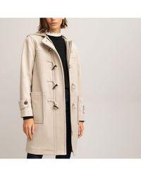 La Redoute Duffle-coat en drap de laine - Neutre