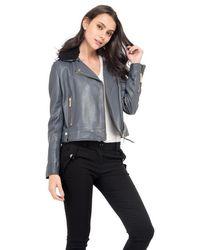 Oakwood - Veste en cuir poches zippées manches longues - Lyst