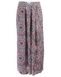 Seafolly Pantalon de plage Sahara Nights Crochet Print Noir