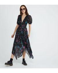 The Kooples Robe longue fludie imprimé Ikat - Multicolore