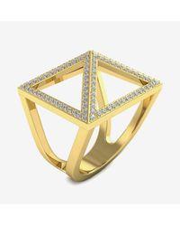 Innocent stone Bague Pavage en or jaune et diamants de synthèse - Métallisé