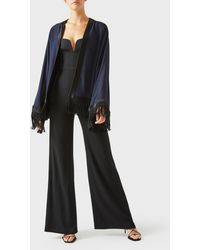 Galvan London Fringed Kimono - Black