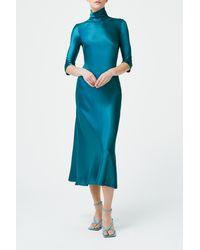 Galvan London Margot Dress - Blue