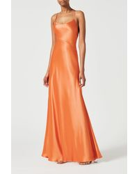 Galvan London Serena Dress - Orange