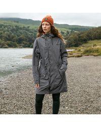 Gandys Charcoal Torden Lightweight Waterproof Parka - Grey