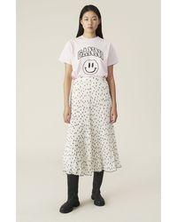 Ganni Pleated Georgette Skirt - Multicolour