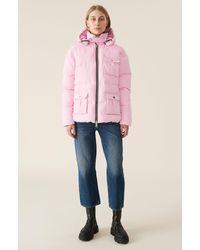 Ganni Heavy Tech Puffer Jacket - Pink