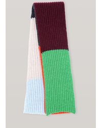 Ganni Recycled Knit Scarf - Multicolour
