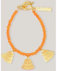 Ganni Bead Accessories Bracelet 4 Orange Peel One Size