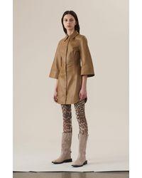 Ganni Lamb Leather Dress - Multicolour