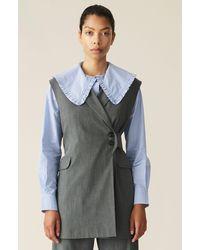 Ganni Melange Suiting Waistcoat - Multicolor
