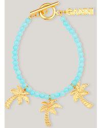 Ganni Bead Accessories Bracelet 3 Aquarius One Size - Metallic