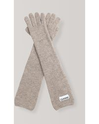 Ganni Knit Gloves - Grey