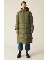 Ganni Tech Down Oversized Coat - Green