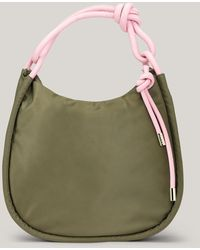 Ganni Recycled Polyester Large Baguette Bag Kalamata One Size - Green