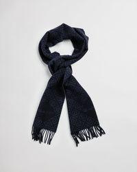 GANT - Iconic G Print Wool Scarf - Lyst