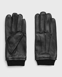 GANT Leather Gloves - Black