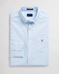 GANT Regular Fit Banker Oxford Shirt - Blue