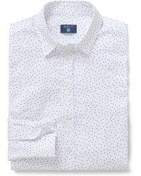 GANT Slim Snow Dot Oxford Shirt - White
