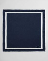 GANT Silk Pocket Square - Blue
