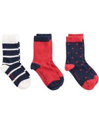 GANT - Kids Three-pack Socks - Lyst