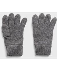 GANT Knit Wool Gloves - Gray