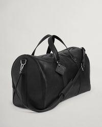 GANT Leather Weekend Bag - Black