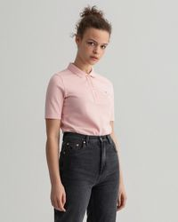 GANT Original Long-short Sleeve Piqué Polo Shirt - Pink