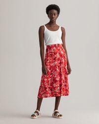 GANT Liberation Bouquet Print Wrap Skirt - Red