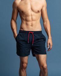 GANT Classic Fit Swim Shorts - Blue