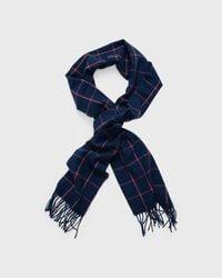 GANT Windowpane Wool Scarf - Blue