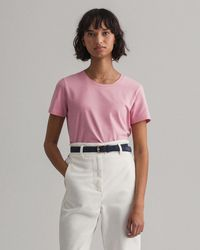 GANT Fitted T-shirt - Pink