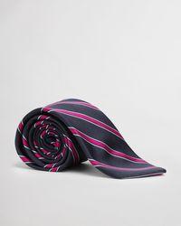 GANT - Striped Silk Tie - Lyst